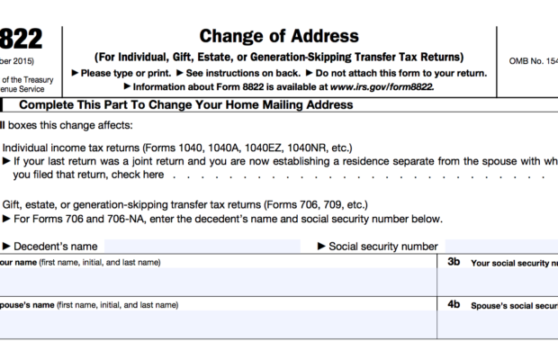 How do I inform the IRS that my address changed for the Solo 401k?